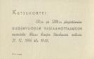 Kutsukortti SR:n ja SRN:n järjestämiin uudenvuoden vastaanottajaisiin (1946)